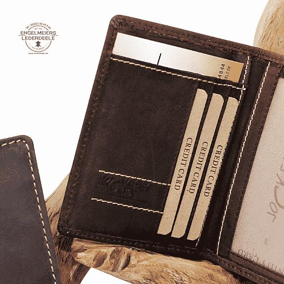 Toro Ausweismappe Jockey Club braun Detailansicht