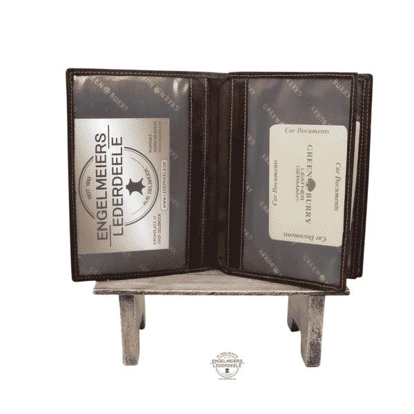 Brieftasche Green Burry Sattelbraun Produktansicht